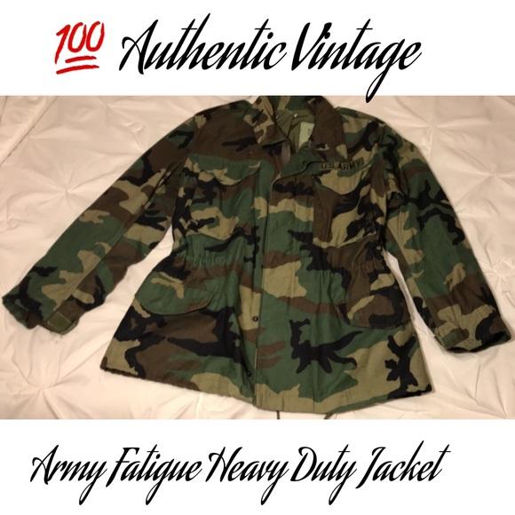 d63d758ebb941 Authentic Vintage Army Fatigue Heavy duty jacket. M_5a76fd371dffda65eae45e37